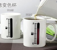 1 pc make effort discolored cup coffee funny ceramic caneca Mood tea color changing Mugs water cups tumbler creative gift