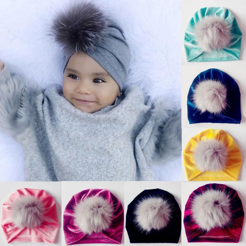Lovely Baby Newborn Toddler Infant Boys Girls Cotton Knot Sleep Hat Cap Beanie