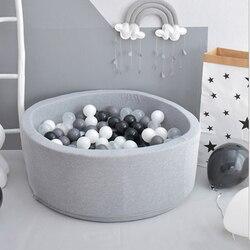 Redondo niños Playpen INS Ocean Ball Pit piscina de bebé esponja infantil juguete suave colorido bolas Pits cerca de bebé decoración de la habitación