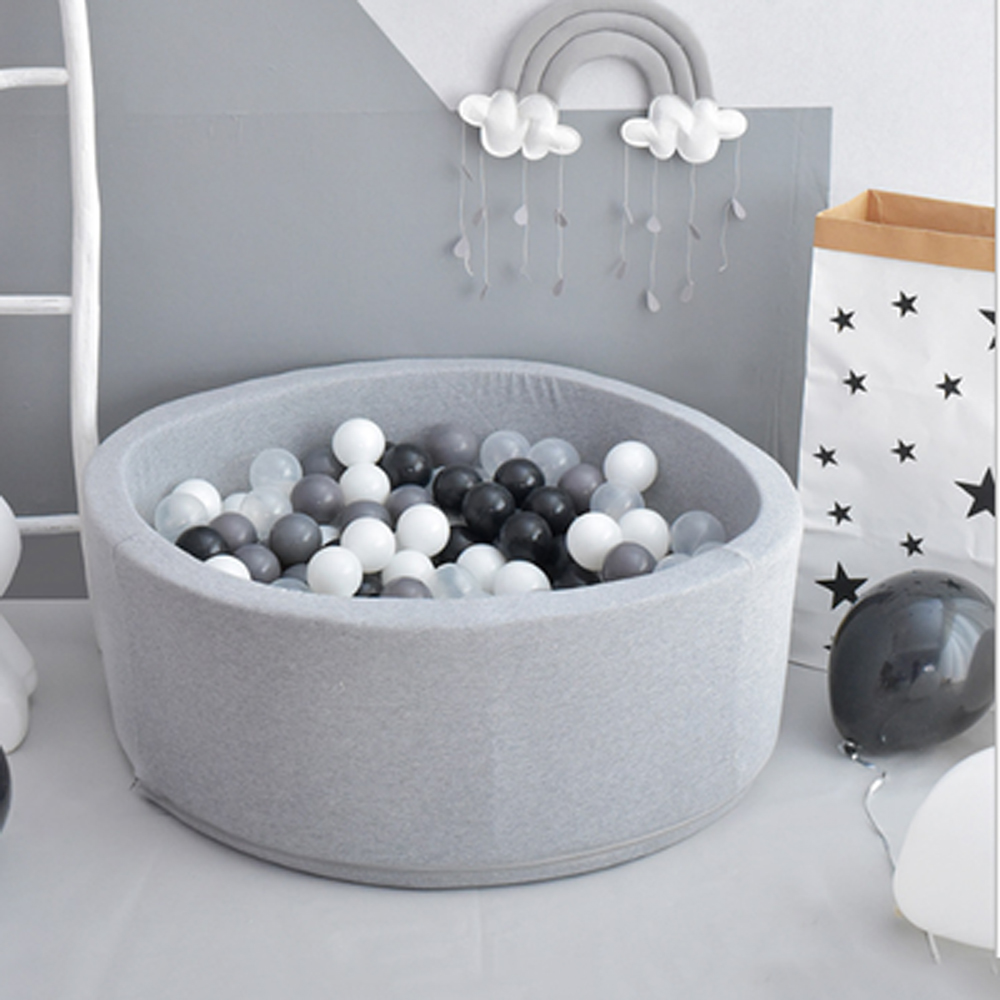 Round Kids Playpen INS Ocean Ball Pit Baby Pool Infant Sponge Children's Playpen Soft Colorful Ball Pits Baby Fence Room Decor