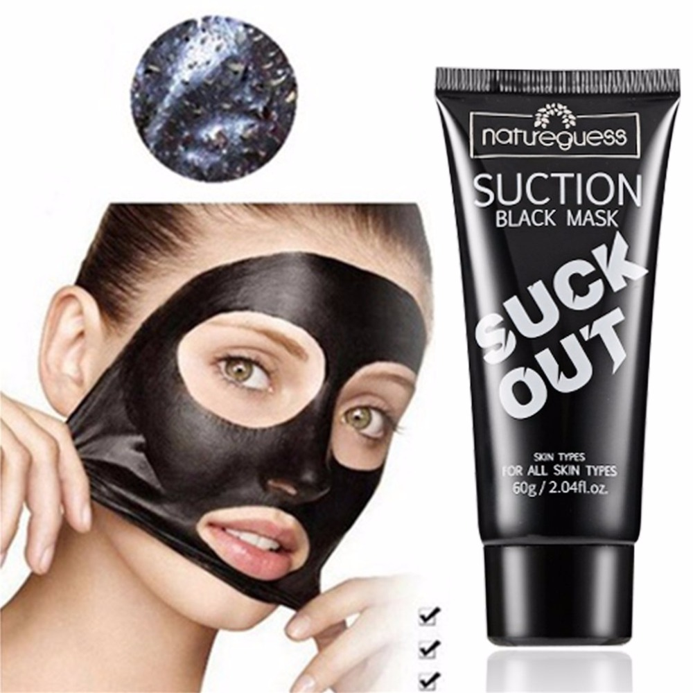 Charcoal Mask To Clear Pores And Detox Skin: Bamboo Charcoal Nose Face Mask Suction Blackhead Removal