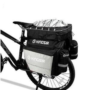 Сумка для велосипеда, 45 л, большой объем, сумка для багажа, задняя полка для велосипеда, сумка для багажа с фиксированным ремнем и водонепрон...