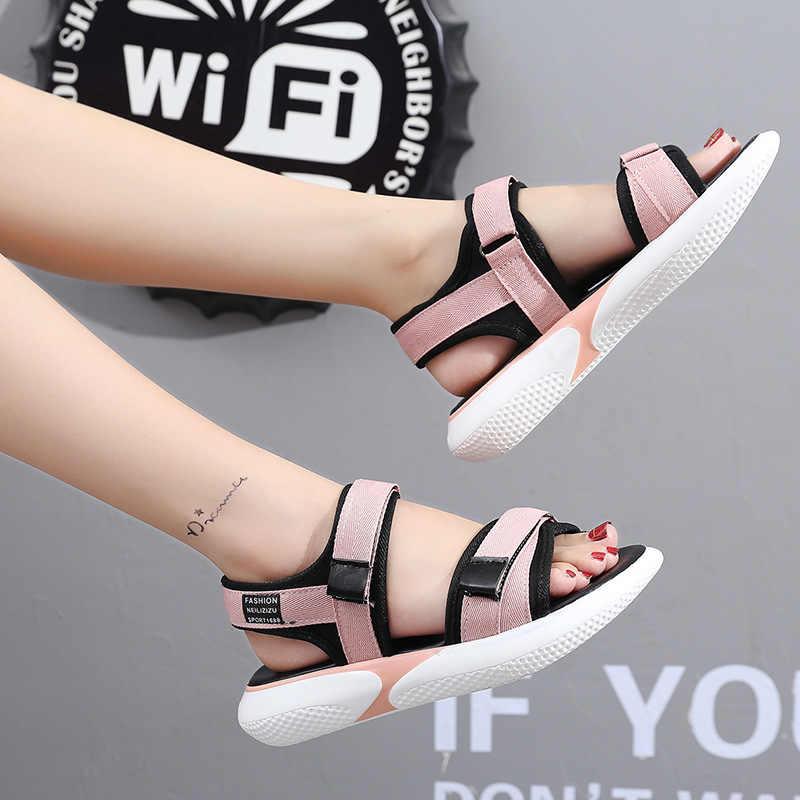 Tangnest nuevas sandalias de mujer transpirables zapatos cómodos zapatos para caminar de Mujer Sandalias de plataforma de verano para mujer calzado Casual XWZ6072