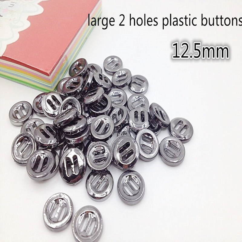 50PCS 12.5mm Clothing accessories High-quality button, large 2 Holes plastic buttons Suitable for use in shirts, sweaters, etc.
