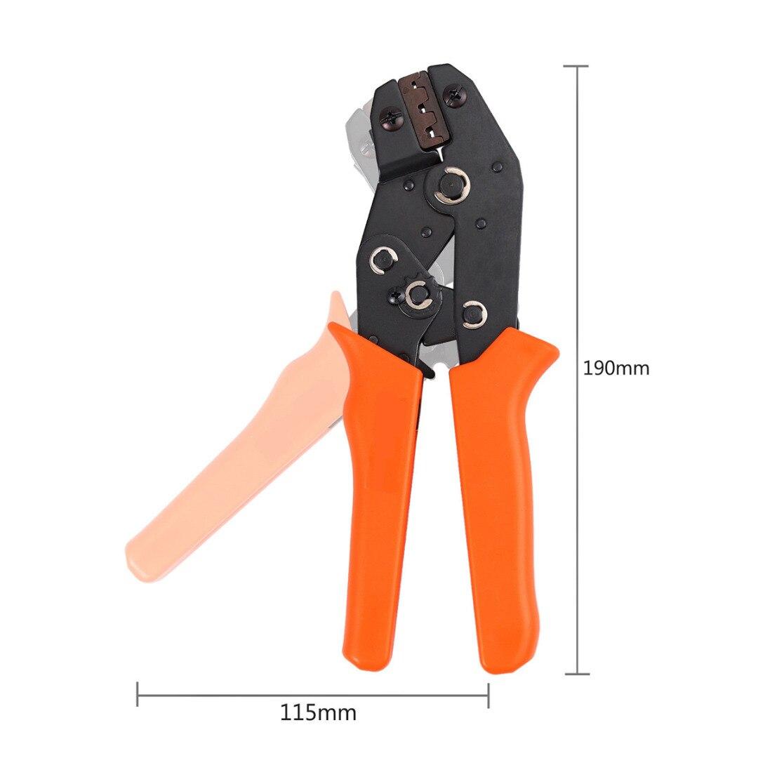 מחשבים ניידים ואביזרים 1pc Ferrule Crimping פלייר 22-16AWG 0.5-1.5mm2 + 300pcs 2.8 / 3.96 / 4.8 / 5.08 / 6.3mm מסופי ספייד מחברים Set (5)