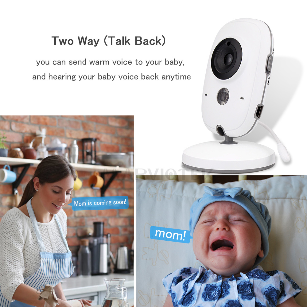 Image 5 - 3.2 inch Wireless Baby Monitor Video Color VB603 High Resolution Baby Nanny Security Camera Night Vision Temperature Monitoring-in Baby Monitors from Security & Protection