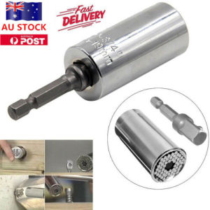 Image 2 - Gator Grip Universal Socket Wrench Power Drill Adapter 2 Piece Set Nut Bolt Tool