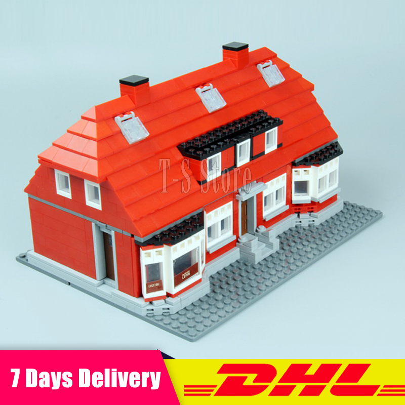 DHL IN Stock LEPIN 17006 928Pcs The Red House City Street Model Building Blocks Bricks Figures Modular Set Gift Toys dhl lepin 18032 2932 pcs the mountain cave my worlds model building kit blocks bricks children toys clone21137 in stock