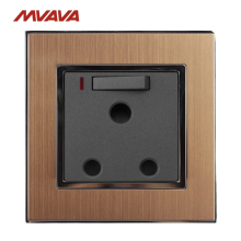 MVAVA 15A Wall Decoration Switched Socket With Neon 3 Round Pin Receptacle LED South Africa Standard Outlet Free Shipping