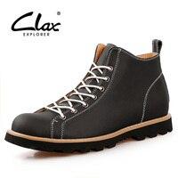 Clax erkek Bilek Boot Ilkbahar Sonbahar Martin Boot Deri Ayakkabı Erkekler İngiliz Tarzı Rahat Moda Ayakkabı Yüksek Üst Chukka Boot