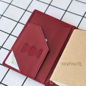 Image 4 - Yiwi 100% Genuine Leather Notebook 9x12.5cm Passport Handmade Vintage Cowhide Diary Travel Journal Sketchbook Planner Gift