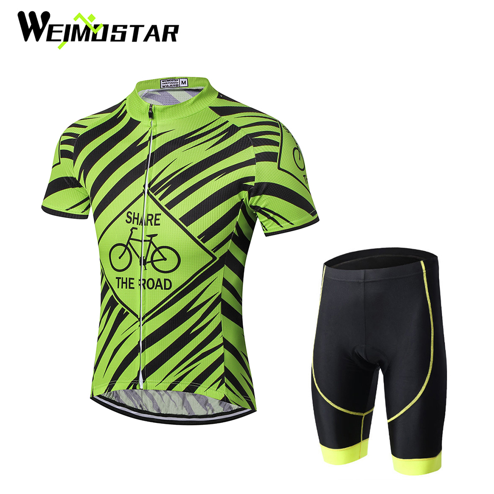 Weimostar Men green Clothing Short Sleeve Bike jersey Mtb roupa ciclismo 2017 summer cycling jersey sets suit with bib shorts xintown men s outdoor cycling jersey sets bib shorts sport short sleeve cycling jersey mountain bike clothing wear suit