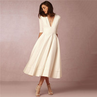 White Dress Women Pink 12 Colors S 3XL Plus Size Winter Dresses 2019 New Autumn Europe and America Sexy Deep V neck Dress LD950