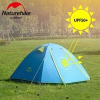 Naturehike палатка P серия Классическая палатка 2-3 человека алюминиевый полюс полиэстер ткань туристическая палатка Famliy палатка NH15Z003-P
