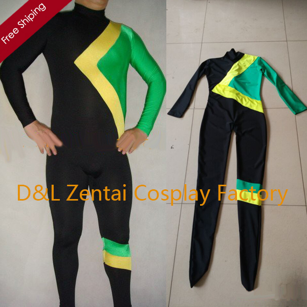 Jamaican Halloween Costume the four amigos after halloween shabbat dinner Free Shipping Dhl Halloween Runnings Jamaican Bobsled Team Costumes Lycra Spandex Unisex Zentai Catsuit Green Superhero