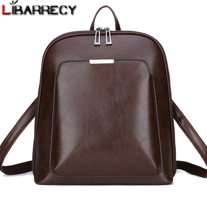 Vintage Backpack Female Brand Leather Women's Backpack Large Capacity School Bag For Girls Leisure Shoulder Bags For Women 2018