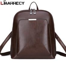 Винтажный рюкзак женский брендовый кожаный женский рюкзак большой емкости школьная сумка для девочек досуг сумки на плечо для женщин 2018