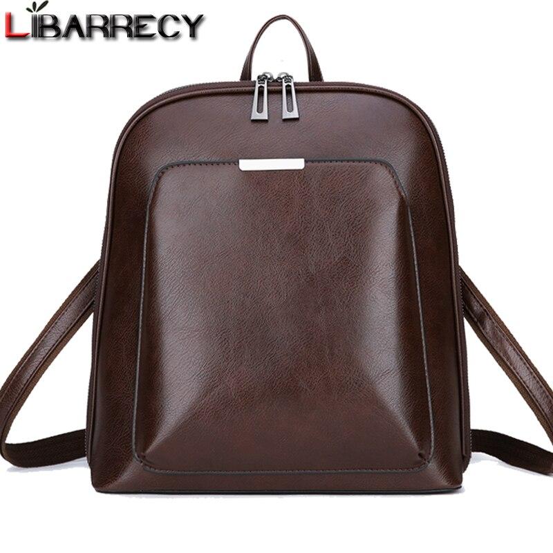 Vintage Rucksack Weibliche Marke Leder frauen rucksack Große Kapazität Schule Tasche für Mädchen Freizeit Schulter Taschen für Frauen 2018