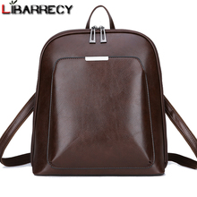 Vintage sırt çantası kadın marka deri kadın sırt çantası büyük kapasiteli okul çantası kızlar için eğlence omuz çantaları kadınlar için 2018