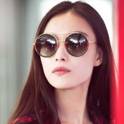 Okrągłe okulary przeciwsłoneczne damskie 2020 Vintage okulary przeciwsłoneczne damskie gefas de sol okulary przeciwsłoneczne oneczne okulary przeciwsłoneczne UV400 4