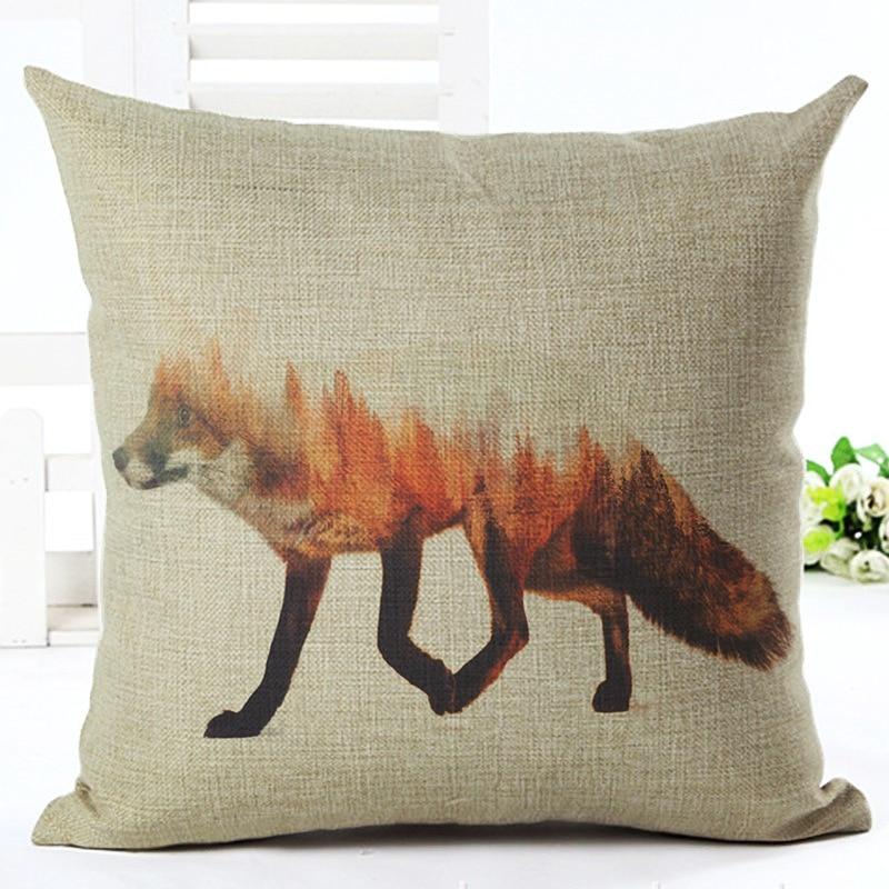 Wolf And Fox Square Decorative Throw Pillow Cushion Covers Case Toss Pillowcase Hidden Capa De Almofada Quality First