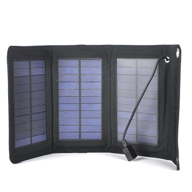 Baterias Solares solar dobrável usb carregador de Modelo Número : 5W Solar Charger