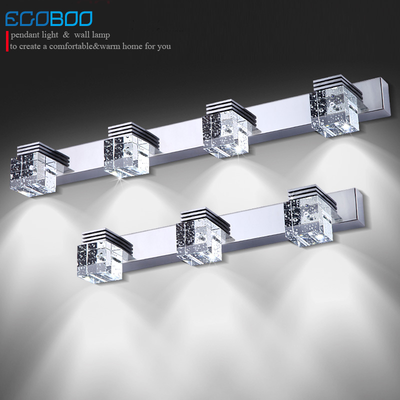 LED lampada crystal modern bathroom mirror lighting Sconce Lamps In Bathroom Light 12w Crystal Led Wall Lamp Ac 110-220v 40cm 12w acryl aluminum led wall lamp mirror light for bathroom aisle living room waterproof anti fog mirror lamps 2131