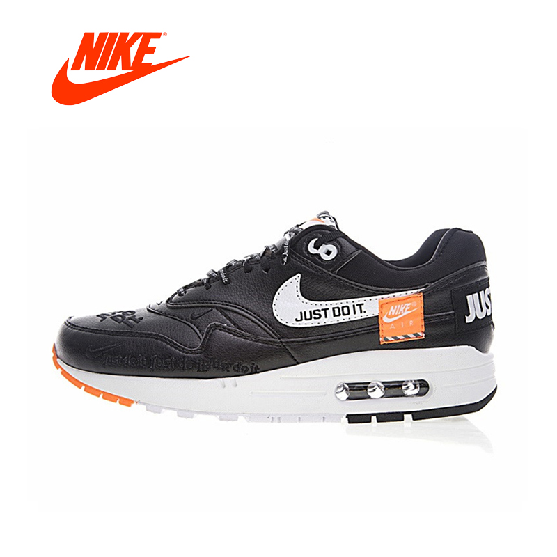 Original New Arrival Authentic Nike Air Max 1 Just Do It Men's Running Shoes Sport Outdoor Sneakers Good Quality 917691-002