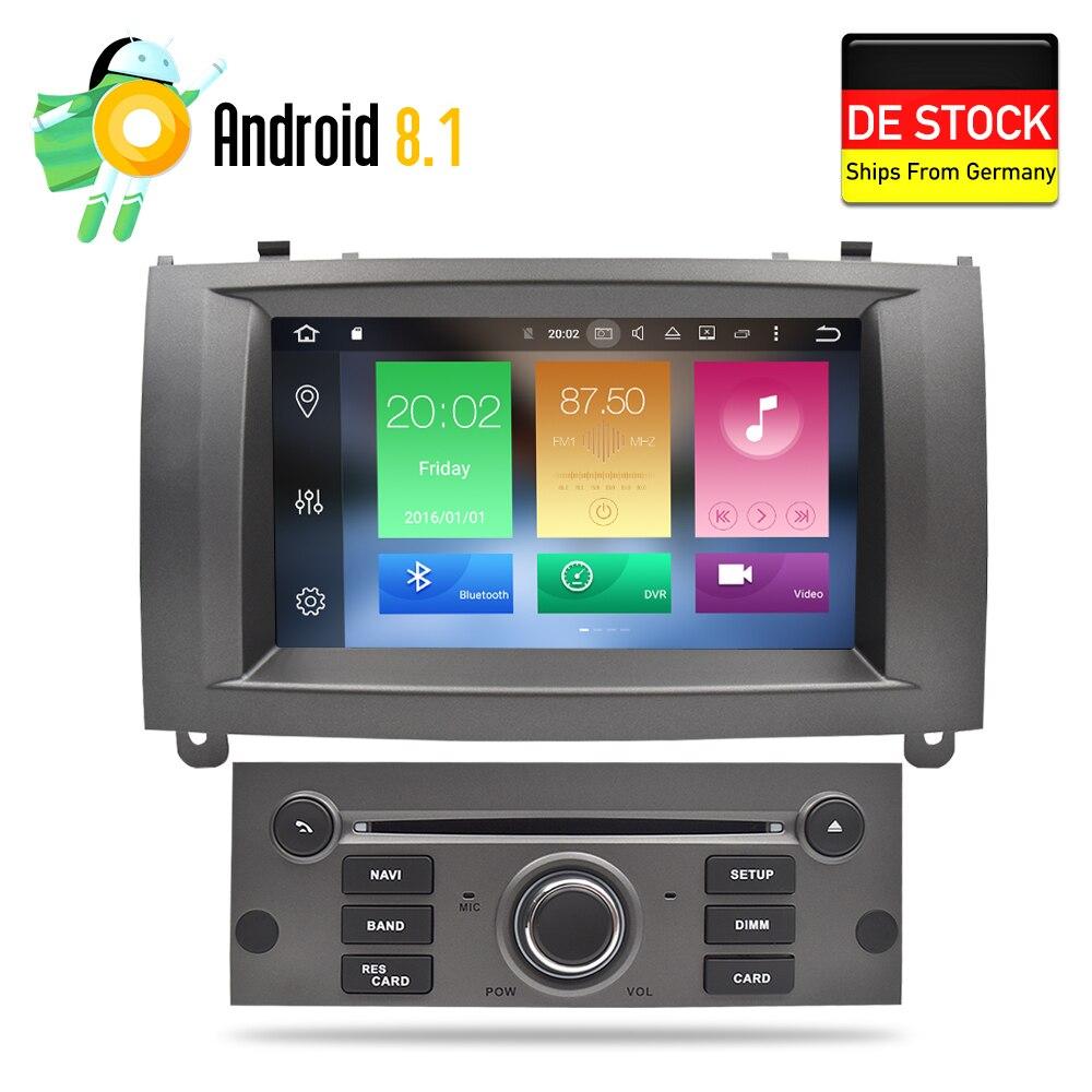 Android 8.0 4g RAM Auto Glonass GPS Navigation DVD de Voiture Stéréo Headunit pour Peugeot 407 2004-2010 auto radio RDS Multimédia 32g