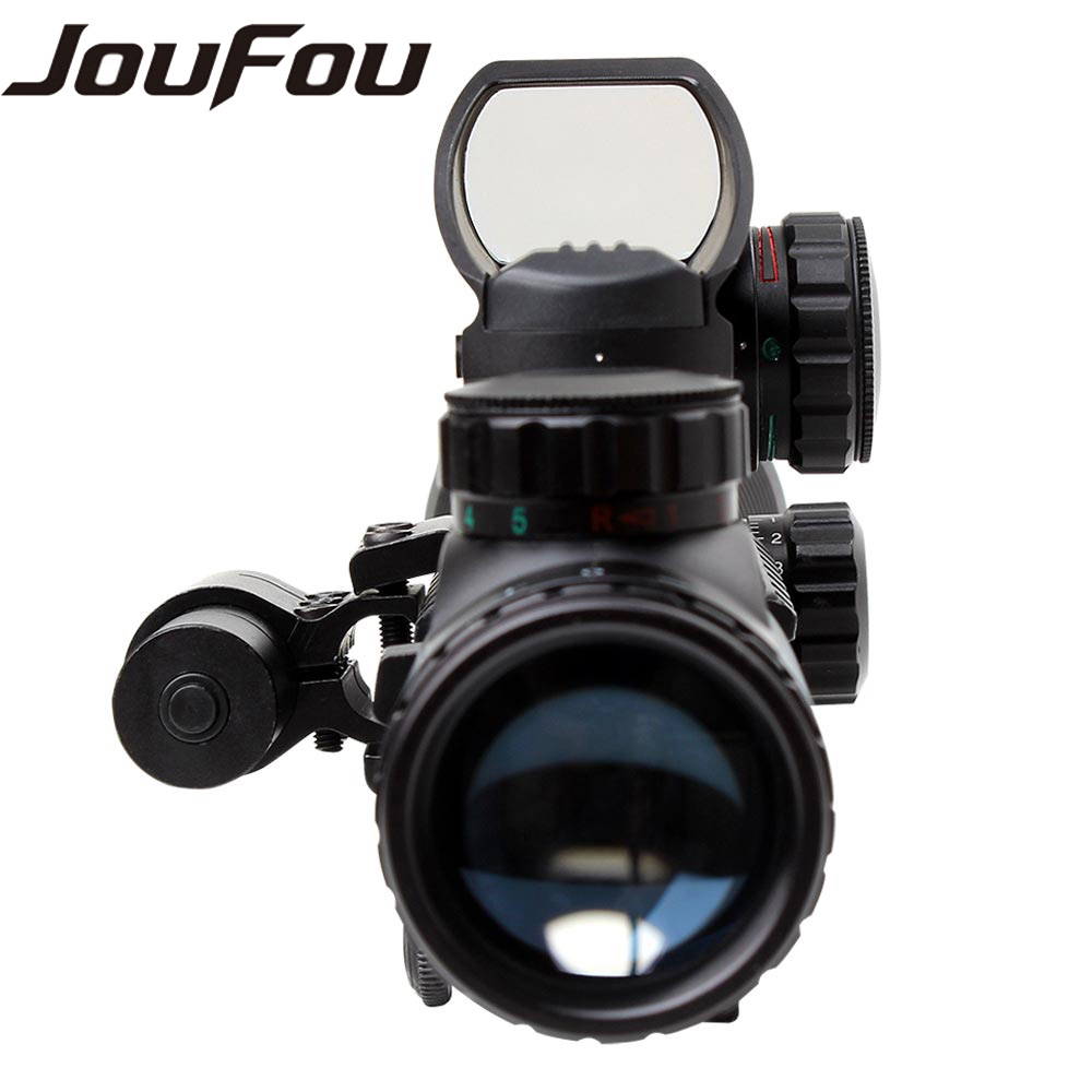 Ohhunt 4 12X50 Hunting Illuminated font b Rangefinder b font Rifle Scope Holographic 4 Reticle Sights