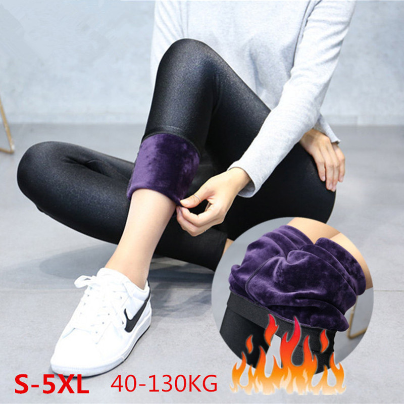 ARDLTME 2018 New Fashion Women's Autumn And Winter High Elasticity And Good Quality Thick Velvet Pants Warm Leggings Size S-5XL
