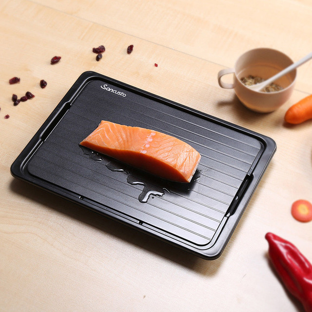 Convenient Fast Defrosting Tray with Cleaner Frozen Meat Defrost Food Thawing Plate Board Kitchen Tool @LS DC21