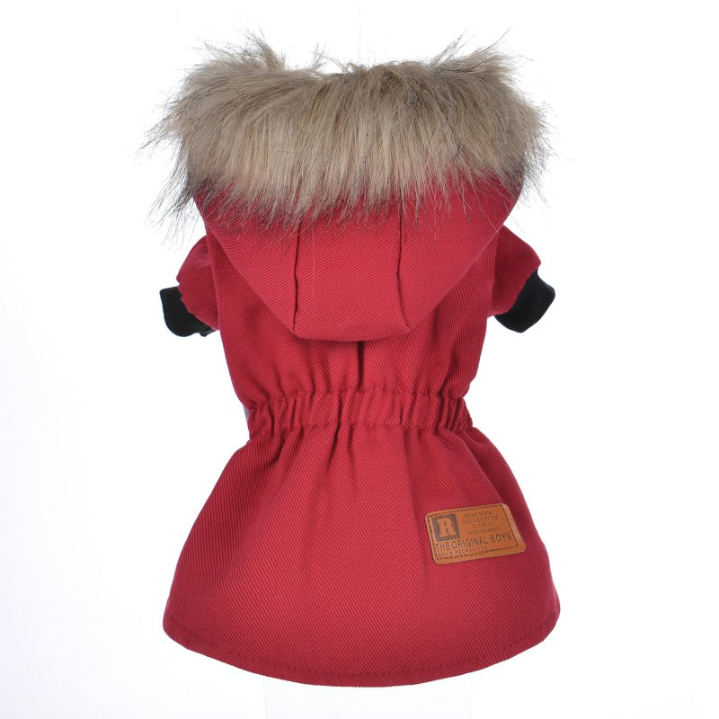 Fashion Winter Warm Dog Coat Dogs Solid Coats Pet Jackets Puppy Clothes Supplies Hoodies Dog