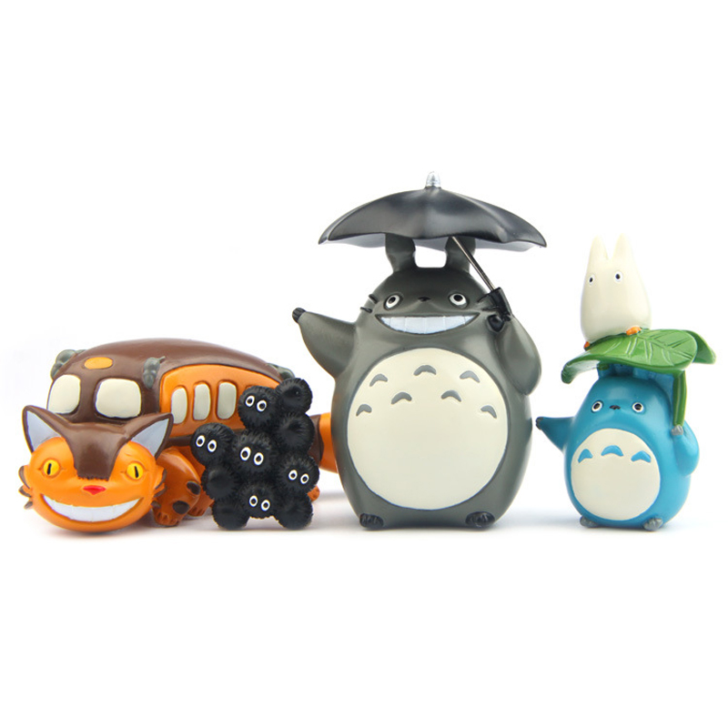 Toys & Hobbies Audacious 1pcs/lot Diy Studio Ghibli My Neighbor Totoro Figure Toy Pvc Blue Totoro Action Figure Collection Model Toy Landscape Home Decor Fine Quality