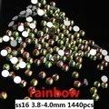 Strass Cristal Strass Para Unhas 1440 pcs ss16 3.8-4.0mm Íris Gemas de Diamantes Prego Produtos Da Arte Do Prego 3D Glitter Decoração
