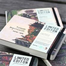 Случайные цвета канцелярские деревянные A5 блокнот пустой альбом блокнот Акварельная бумага школьные подарочные принадлежности винтажная книга