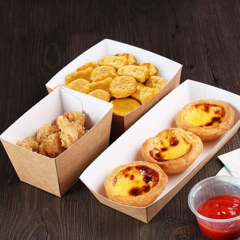 600pcs/lot Disposable Kraft Paper French Fries Cup Eco Friendly Fried Chicken Popcorn Dessert