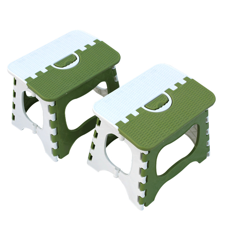 Plastic Thickened Foldable Stool Outdoor Portable Family Small Bench Adult Children Folding Step Stool