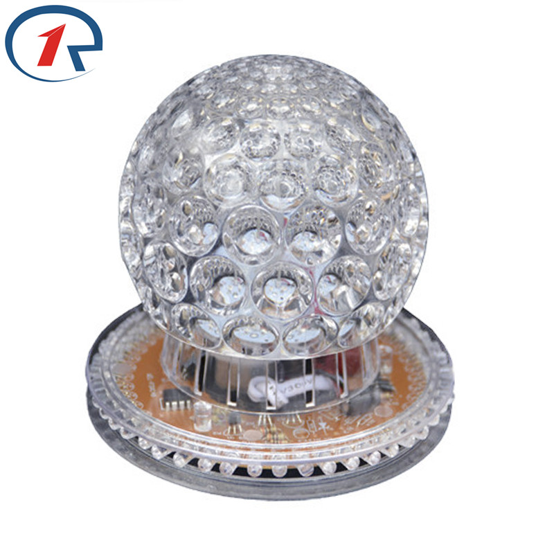 ZjRight New Crystal magic ball LED Christmas lights auto Rotating RGB projector dj bar disco Halloween decor holiday party light