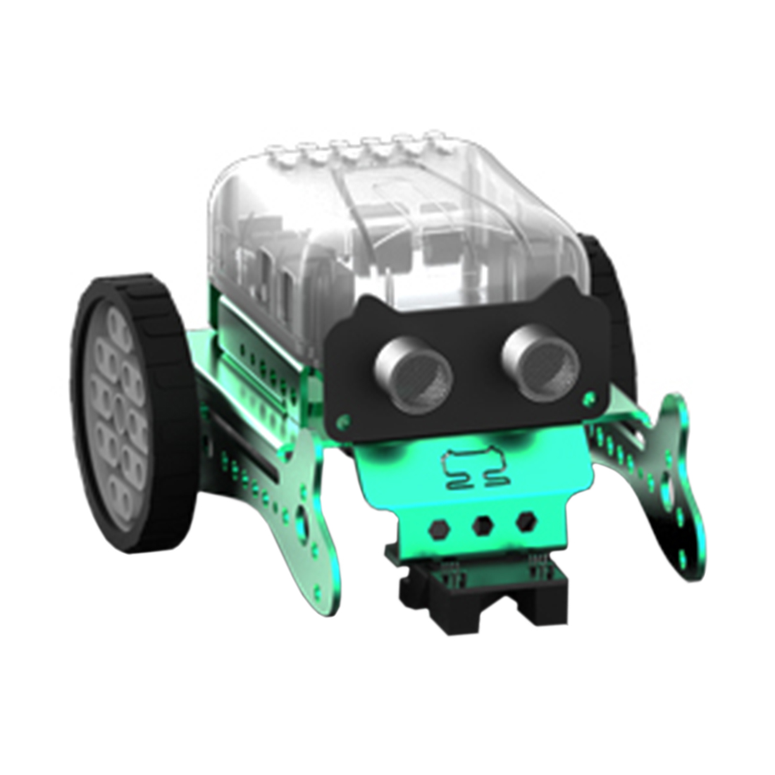 DIY Neo Programming Scratch Intelligent Obstacle Avoidance Car Robot Kit For Kids Gift Toy Model Mini Smart Robot - Green Red