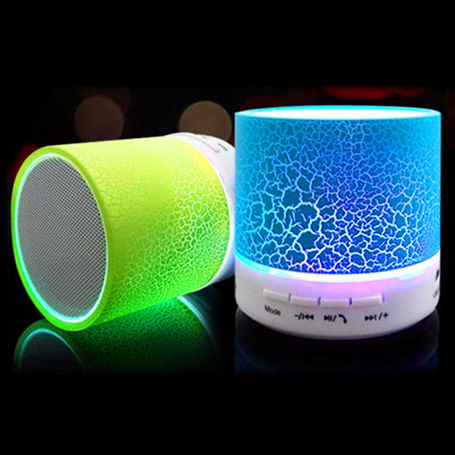 Led Mini Portable Wireless Bluetooth Speaker with Mic Usb Mp3 Subwoofer Speaker for Phone Computer