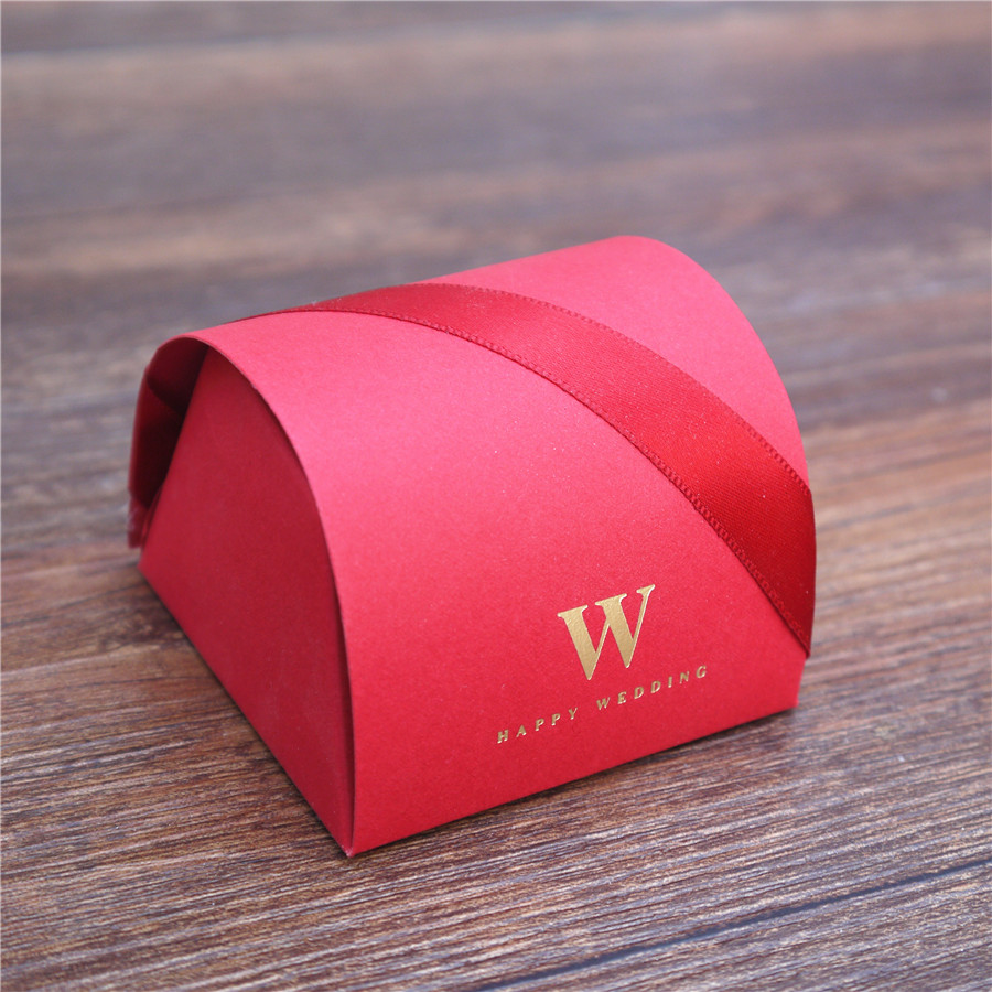 100pcs grace elegant wedding red Candy Boxes Treasure Box Wedding ...