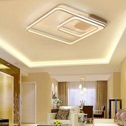 Kwadratowy dwustronny lekki salon żyrandol LED do sypialni o wysokiej jasności aluminiowe nowoczesne lampy LED żyrandol