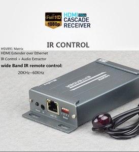 Image 4 - MiraBox HSV891M HDMI Matrix Extender 1080P Over IGMPการสนับสนุนสวิทช์16 Sender 236เครื่องรับIR Over IP HDMI extender
