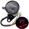 Universal Motorcycle Dual Speedometer Odometer Gauge K/mh LED Backlight Signal