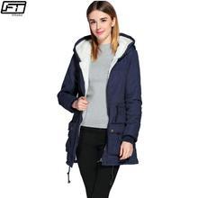 Winter Jacket Women 2017 New Slim Hooded Thick Zipper Fashion Long Cotton Coat Casual Plus Size Ukraine Mujer Parka