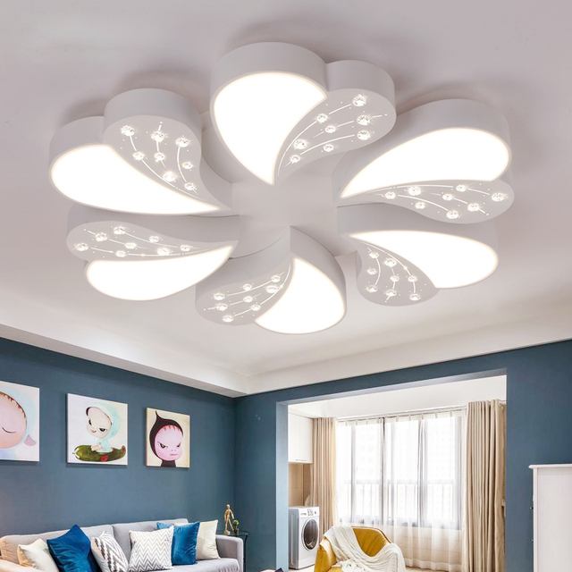 heart shaped led ceiling light master bedroom lamp romantic and cozy living room lamp originality study - Master Bedroom Ceiling Light