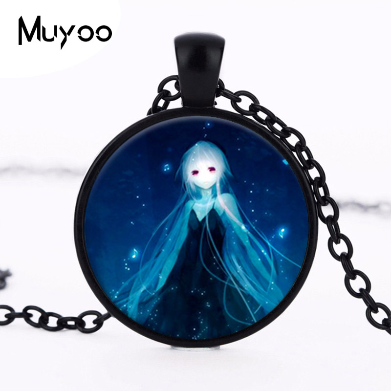2016 wholesale new fashion pendant glass dome baby pendant necklace guardian angel necklace Art glass necklace HZ1