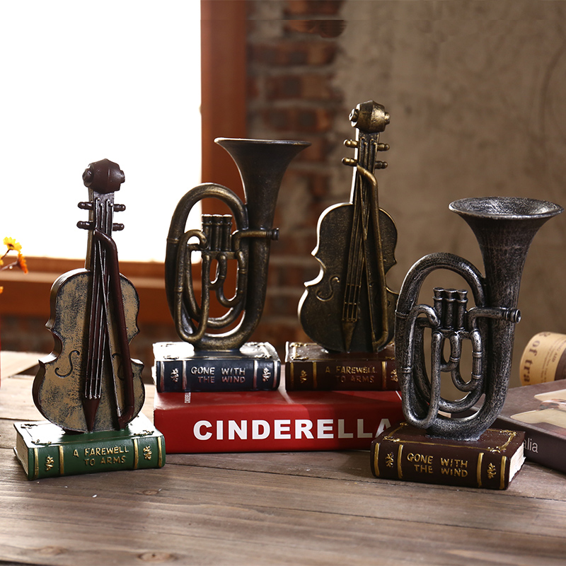 Retro resin ornaments Home Furnishing TV cabinet office desktop decoration personality decoration crafts