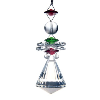 Hd conical pendant clear crystal prisms 1pc chandelier hanging hd conical pendant clear crystal prisms 1pc chandelier hanging parts lamp supply beauty suncatcher car ornament home decor aloadofball Gallery